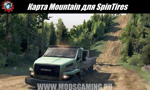 Spin Tires download mod Mountain Map