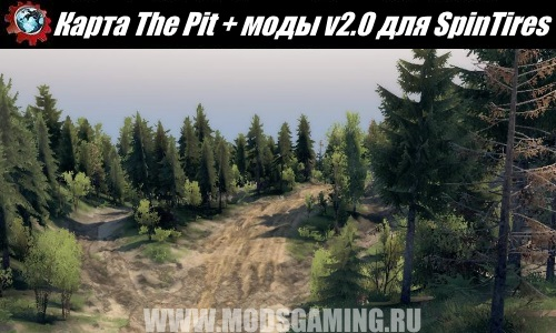 SpinTires download Fashion Map The Pit + fashion v2.0