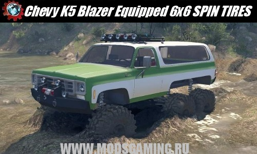 SPIN TIRES download mod SUV 1975 Chevy K5 Blazer Equipped 6x6