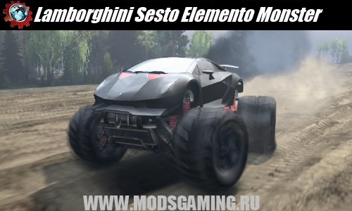 SPIN TIRES download mod SUV Lamborghini Sesto Elemento Monster truck