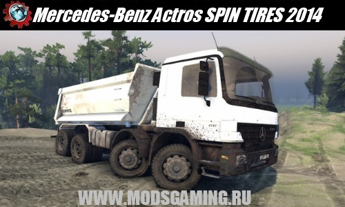 SPIN TIRES 2014 download mod car Mercedes-Benz Actros 8x8