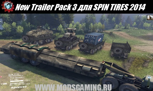 SPIN TIRES 2014 скачать мод New Trailer Pack 3