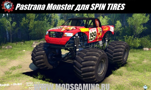 SPIN TIRES bigfoot mod Pastrana Monster