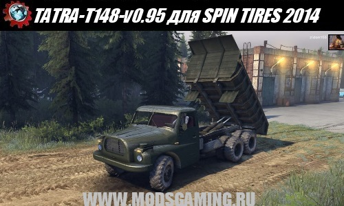 SPIN TIRES 2014 download mod truck TATRA-T148-v0.95