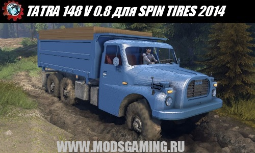 SPIN TIRES 2014 download mod truck TATRA 148 V 0.8