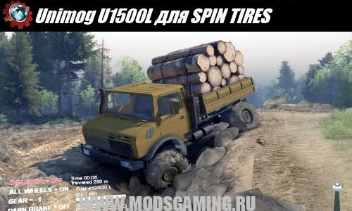 SPIN TIRES download mod truck Unimog U1500L
