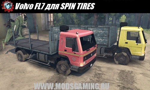 SPIN TIRES download mod Truck Volvo FL7