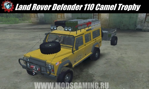 SPIN TIRES download mod Land Rover Defender 110 Camel Trophy