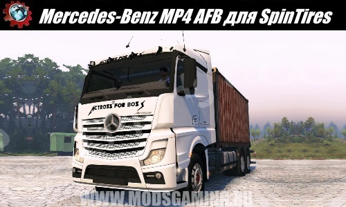 SpinTires download mod Truck Mercedes-Benz MP4 AFB