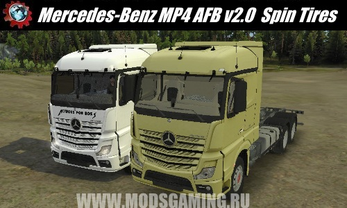 Spin Tires download mod Truck Mercedes-Benz MP4 AFB v2.0