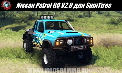 SpinTires download mod SUV Nissan Patrol GQ V2.0