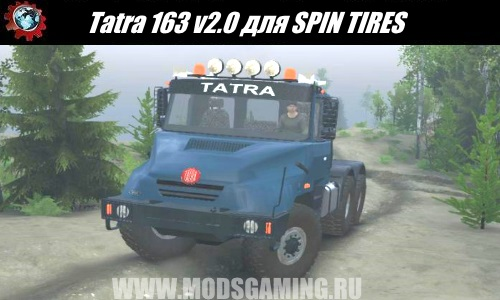 SPINTIRES download mod truck Tatra 163 for v2.0 03/03/16