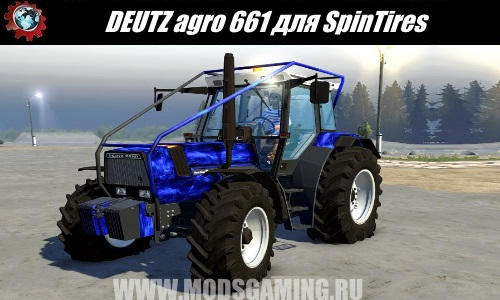 Spin Tires download mod tractor DEUTZ agro 661