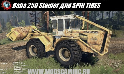 SPIN TIRES download mod tractor Raba Steiger 250