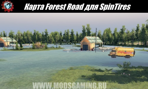 SpinTires download mod map Forest Road