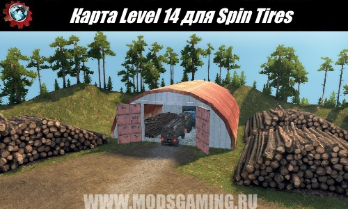 Spin Tires download map mod Level 14
