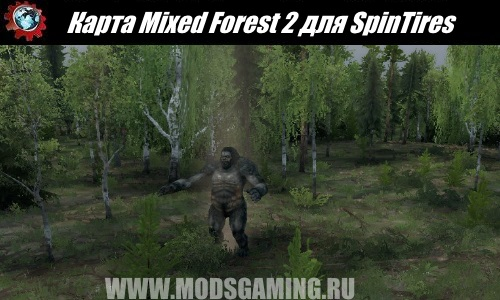 SpinTires download map mod Mixed Forest 2