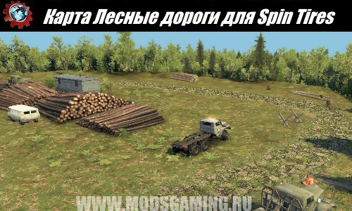 Spin Tires download map mod Forest roads