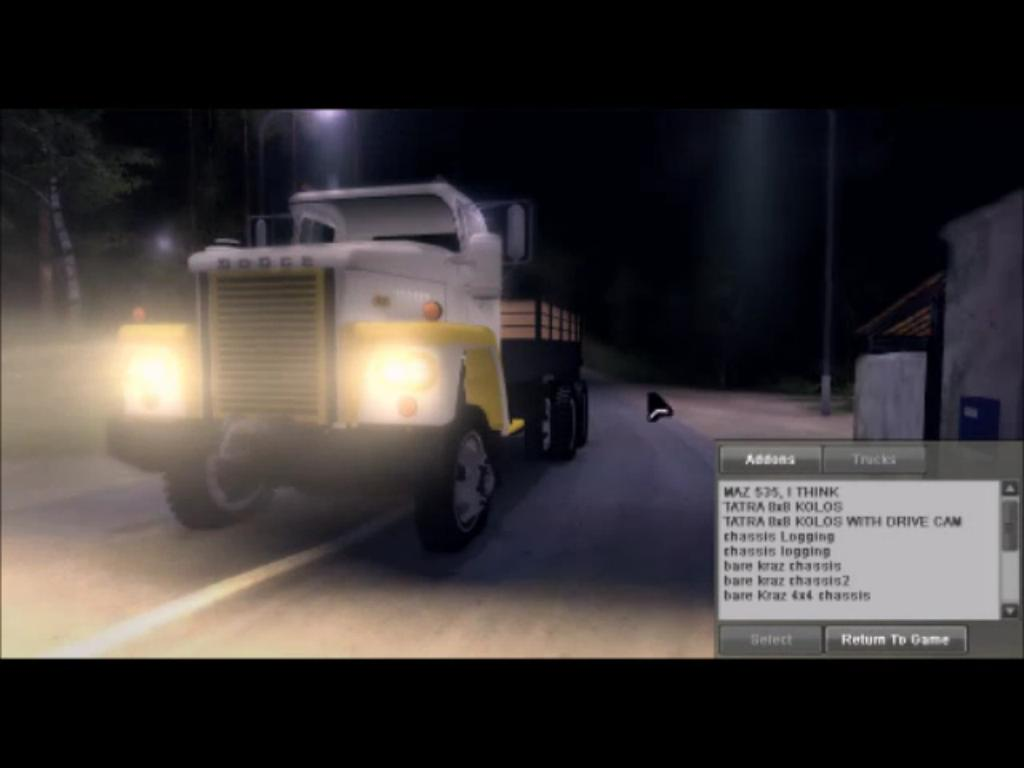 "Мод ""Cab & Chassis pack и Truck"" для Spin Tires - Level Up 2011"