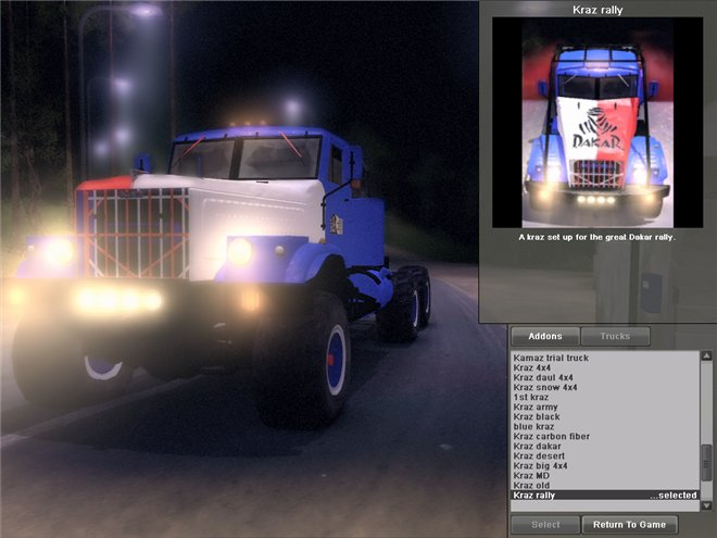 Мод Truck pack v 8.0 для Spin Tires