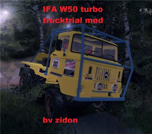 Мод IFA W50 Truck Trial для Spin Tires Level Up 2011 Скачать