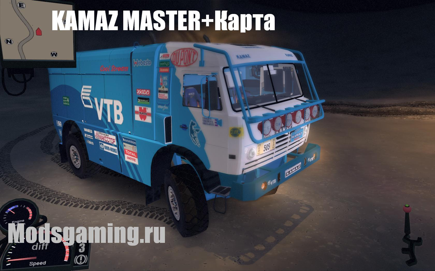 Мод KAMAZ MASTER 4911 для Spin Tires Level Up 2011+Карта Скачать