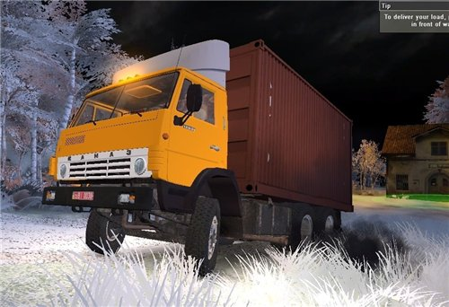 Мод КамАЗ 55102 Контейнер v2.0 для Spin Tires Level Up 2011 Скачать