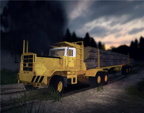 Мод HAYES HQ 142 (HDX) logging truck full для Spin Tires Level Up 2011 Скачать