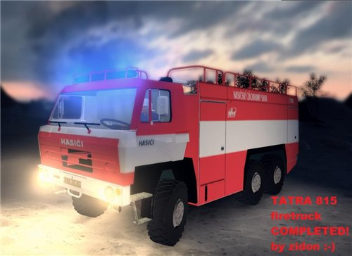 Мод TATRA 815 Пожарная для Spin Tires Level Up 2011 Скачать
