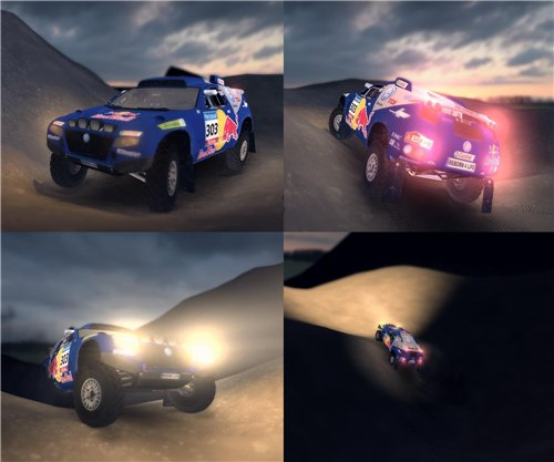 "Мод ""VW Touareg Dakar [бета]"" для Spin Tires - Level Up 2011"