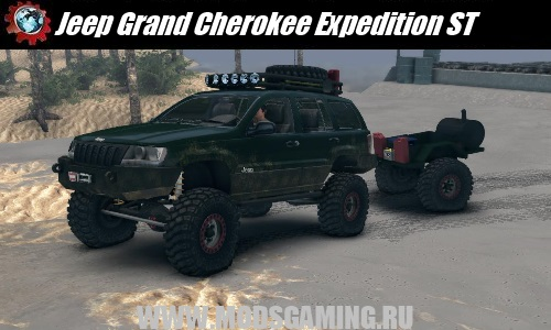 Spin Tires скачать мод машина Jeep Grand Cherokee Expedition