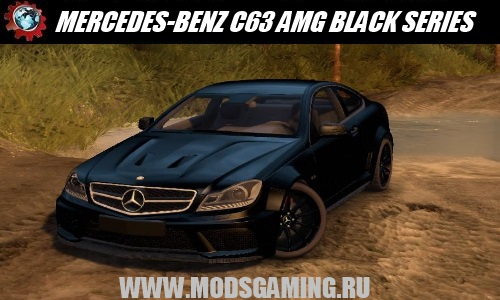 Spin Tires v1.5 скачать мод MERCEDES-BENZ C63 AMG BLACK SERIES 2013 1.0