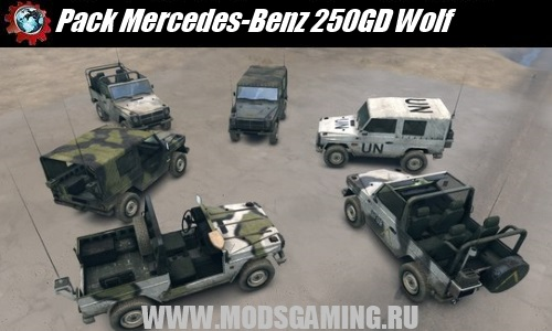 Spin Tires v1.5 скачать мод Pack Mercedes-Benz 250GD Wolf