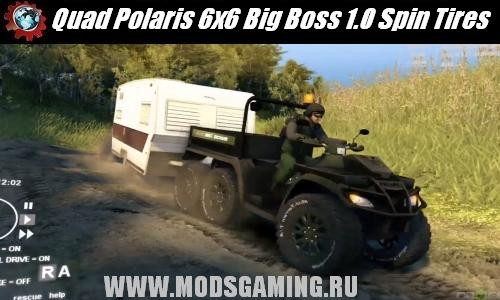 Spin Tires v1.5 скачать мод Quad Polaris 6x6 Big Boss 1.0