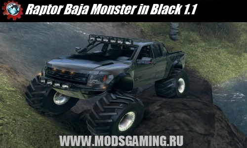 Spin Tires v1.5 скачать мод Raptor Baja Monster in Black 1.1